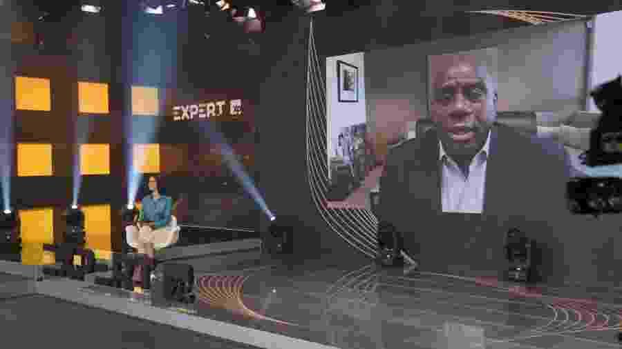 Magic Johnson foi um dos palestrantes no evento da XP este ano - Reprodução