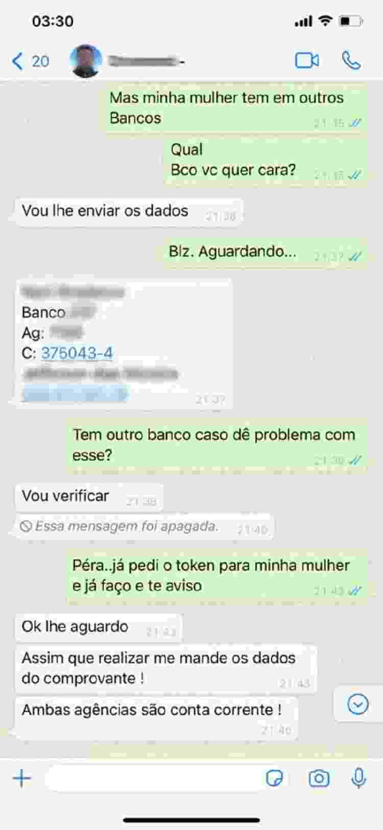 Golpe do WhatsApp (2) - Reprodução/Tudo Golpe - Reprodução/Tudo Golpe