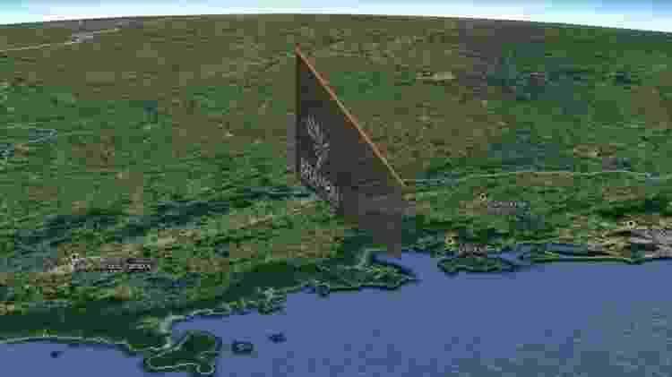 Perspectiva da trajetória do Meteoro que cruzou os céus de SP, MG e RJ - Bramon - Bramon