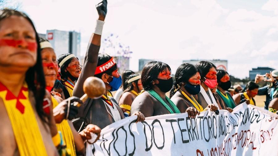 Índígenas acampam em Brasília à espera de julgamento de marco temporal  - Raissa Azeredo | Aldeia Multietnica