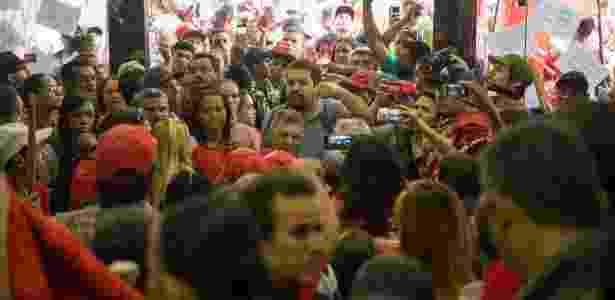 Integrantes do MTST no saguão do prédio da Presidência em São Paulo - Danilo Verpa/Folhapress - Danilo Verpa/Folhapress