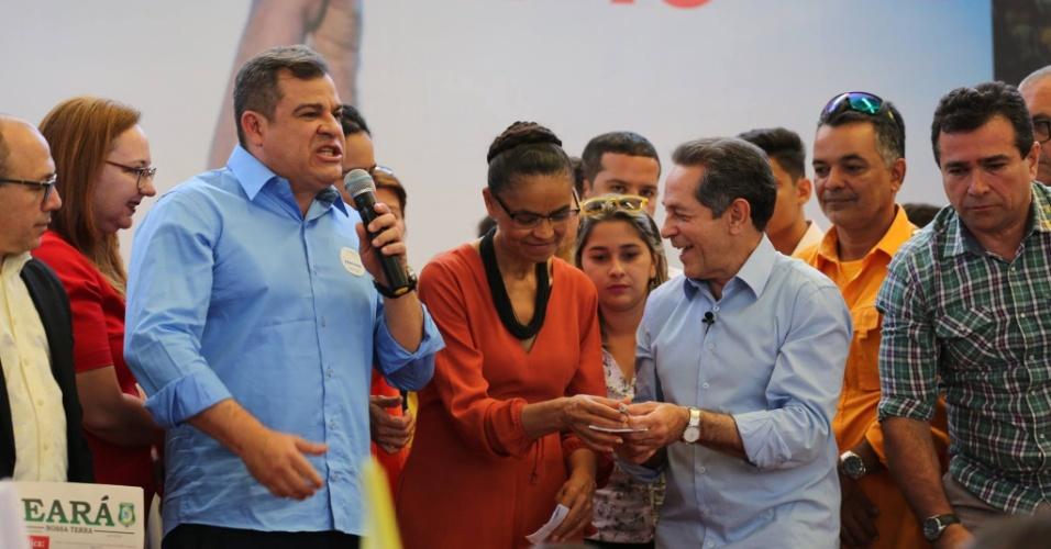 4.ago.2016 - O PSB oficializou Heitor Férrer como candidato à Prefeitura de Fortaleza. A convenção realizada em 31 de julho contou com a presença de Marina Silva e do candidato à vice-prefeito Dimas Costa, ambos da Rede Sustentabilidade