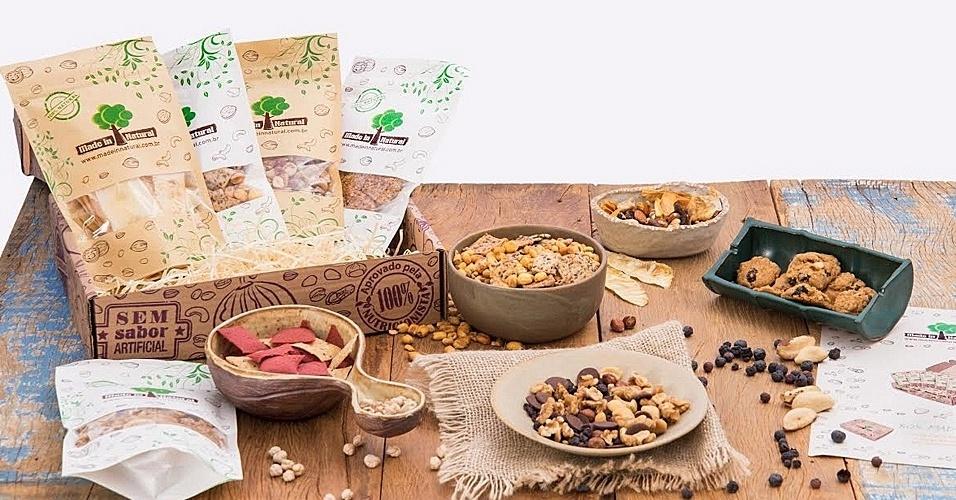 A Made in Natura vende assinaturas mensais de lanches saudáveis e naturais como frutas desidratadas, mix de oleaginosas e barrinhas