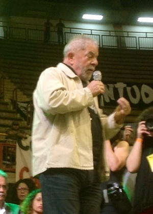 O ex-presidente Luiz Inácio Lula da Silva em Minas Gerais