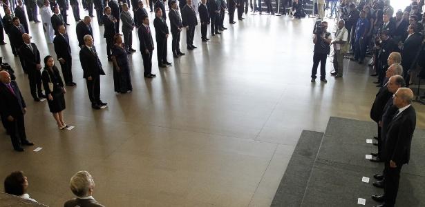 Cerimônia em que a insígnia da Ordem de Rio Branco foi concedida a ministros e a Loures, entre outros