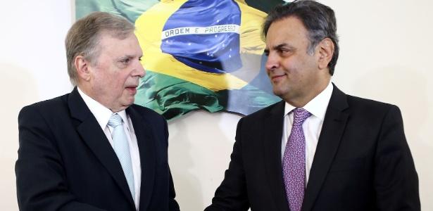 Tasso Jereissati (esquerda) e Aécio Neves se reúnem em Brasília