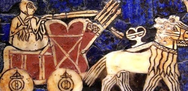 Carro de guerra sumério (cerca de 2.500 a.C.)