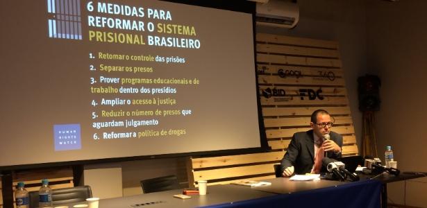 O pesquisador sênior da Human Rights Watch no Brasil, César Muñoz