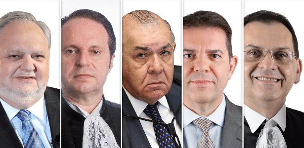 Da esq. para a dir.: Felix Fischer, Joel Ilan Paciornik, Jorge Mussi, Ribeiro Dantas e Reynaldo Soares da Fonseca