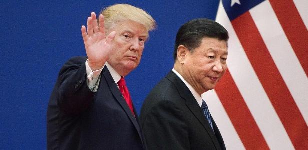 Presidente dos EUA Donald Trump com o presidente chinês Xi Jinping