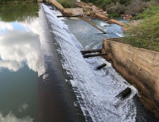 Registro de fevereiro da transposição do rio São Francisco em Monteiro (PB)