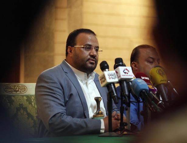 O líder dos rebeldes no Iêmen, Saleh Ali al-Sammad - Mohammed Huwais/AFP