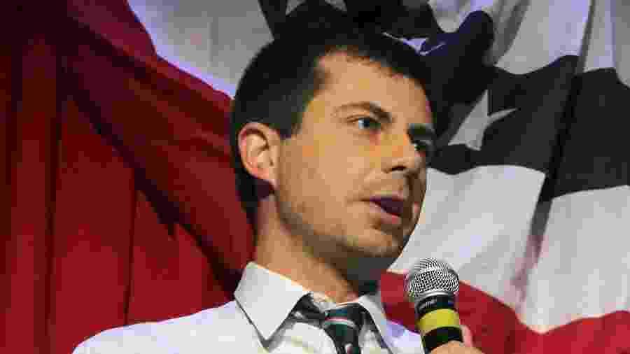 O prefeito da cidade de South Bend, em Indiana, Pete Buttigieg, pode ser o primeiro presidente abertamente gay da história dos EUA - DEREK HENKLE/AFP