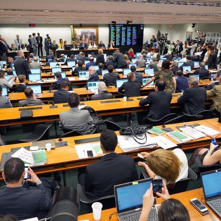 23.abr.2019 - CCJ da Câmara vota admissibilidade da reforma da Previdência  - Pablo Valadares/Câmara dos Deputados