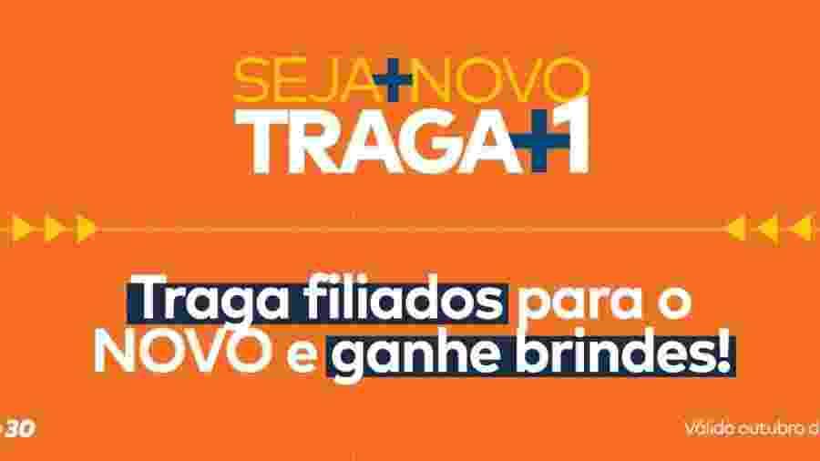 Campanha do Novo para novos filiados - Divulgação