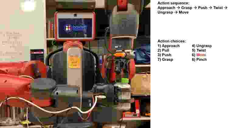 Imagem de vídeo com a explicação apenas em texto - Reprodução/ Edmonds et al./ Science Robotics - Reprodução/ Edmonds et al./ Science Robotics