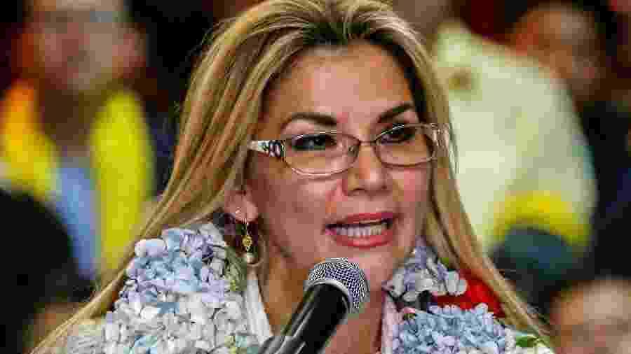 Líder interina da Bolívia, Jeanine Áñez - David Mercado