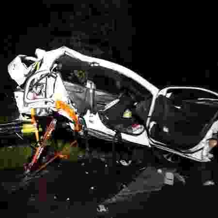 Carro fica destruído após acidente que matou quatro amigas em Santa Catarina - Reprodução/Redes sociais