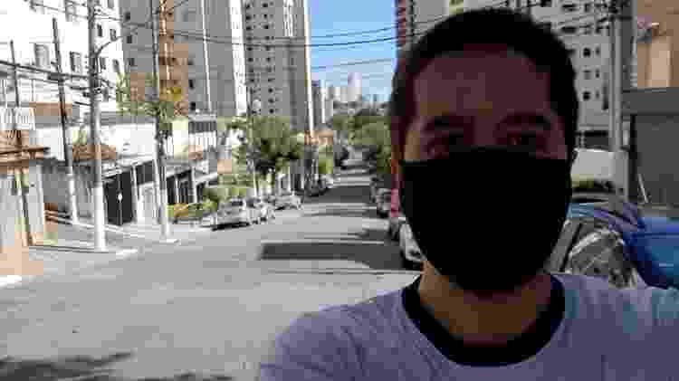 Selfie com o Galaxy A51 sob a luz do sol - Gabriel Francisco Ribeiro/UOL - Gabriel Francisco Ribeiro/UOL