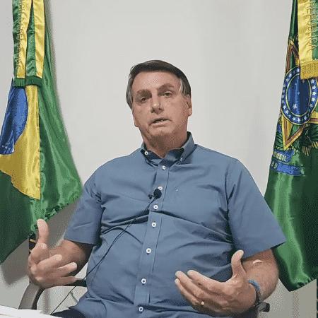 Presidente Jair Bolsonaro (sem partido) atacou imprensa nas redes sociais - Reprodução/YouTube