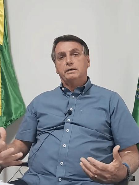 Presidente Jair Bolsonaro - Reprodução/YouTube