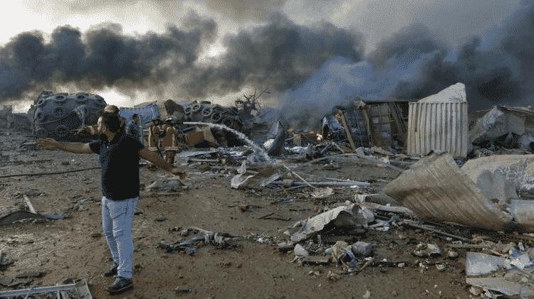 Segundo autoridades, substância química causou a explosão no Líbano pois estava armazenada de maneira insegura - EPA/WAEL HAMZEH - EPA/WAEL HAMZEH