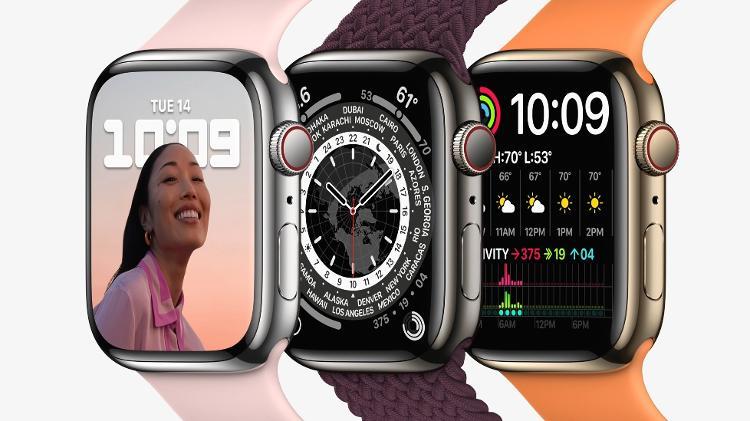 Apple Watch Series 7 - Divulgação/ Apple - Divulgação/ Apple