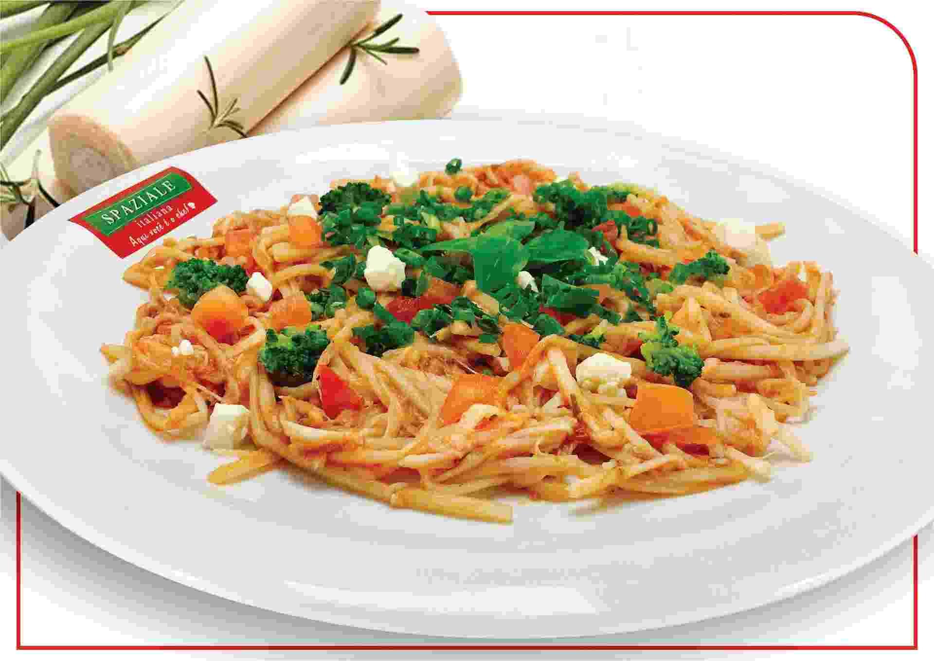 Espaguete de pupunha, feito pela franquia  Spaziale Italiana, de São José do Rio Preto - Divulgação