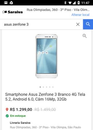 Agora é possível ver distância e disponibilidade de certos itens em lojas de varejo parceiras do Google