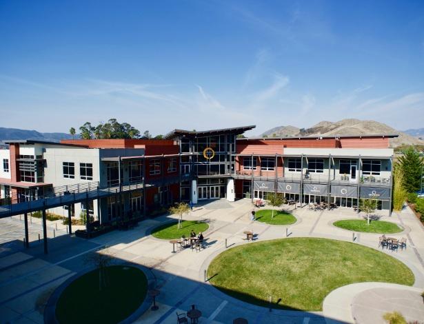 Os escritórios da MindBody, que comercializa ferramentas de gerenciamento de negócios baseadas em nuvem, em San Luis Obispo, Califórnia