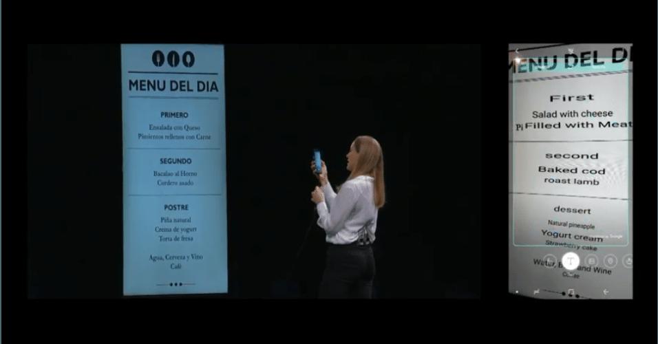 Uma função bacana do S9 e do S9 Plus é a de tradução de texto em tempo real.