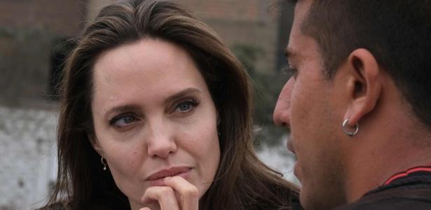 A atriz norte-americana Angelina Jolie visitou refugiados venezuelanos no Peru - Santiago Escobar-Jaramillo/AFP