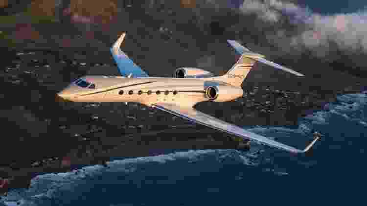 O Gulfstream G550 pode percorrer mais 12,5 mil quilômetros - Divulgação - Divulgação