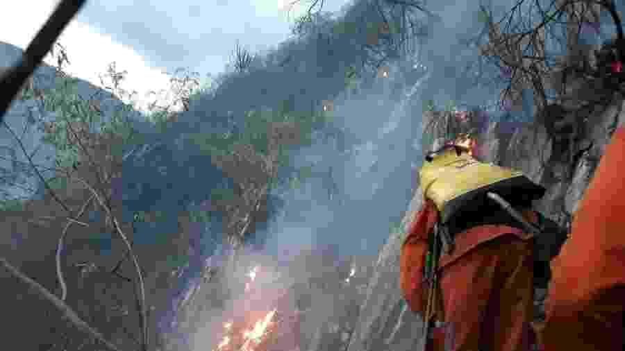 Incêndio de grandes proporções tomou conta da Chapada Diamantina, na Bahia - Divulgação/Corpo de Bombeiros Militar da Bahia