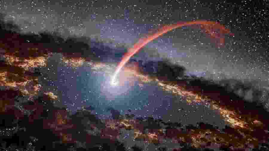 Registros sugerem que buracos negros podem dissipar estrelas em longas serpentinas - NASA/JPL-CALTECH