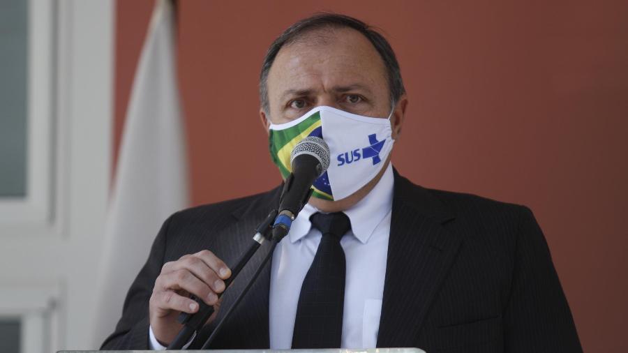 O ministro interino da Saúde, Eduardo Pazuello, durante cerimônia em unidade da Fiocruz no Rio de Janeiro - José Lucena/Futura Press/Estadão Conteúdo