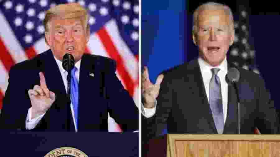 Donald Trump e Joe Biden celebrarão data de modo discreto este ano - Reuters/EPA