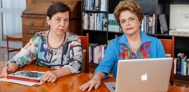 Dilma Rousseff e Tereza Campello conversam com internautas