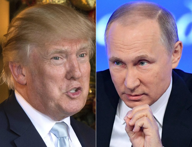 Os presidentes Donald Trump, dos EUA, e Vladimir Putin, da Rússia - Don Emmert and Natalia Kolesnikova/AFP