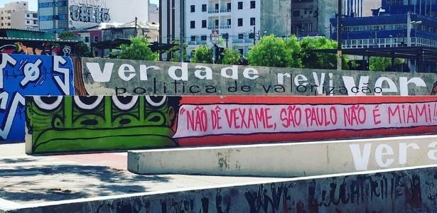 Grafite feito por Mundano, no Largo da Batata, na capital paulista