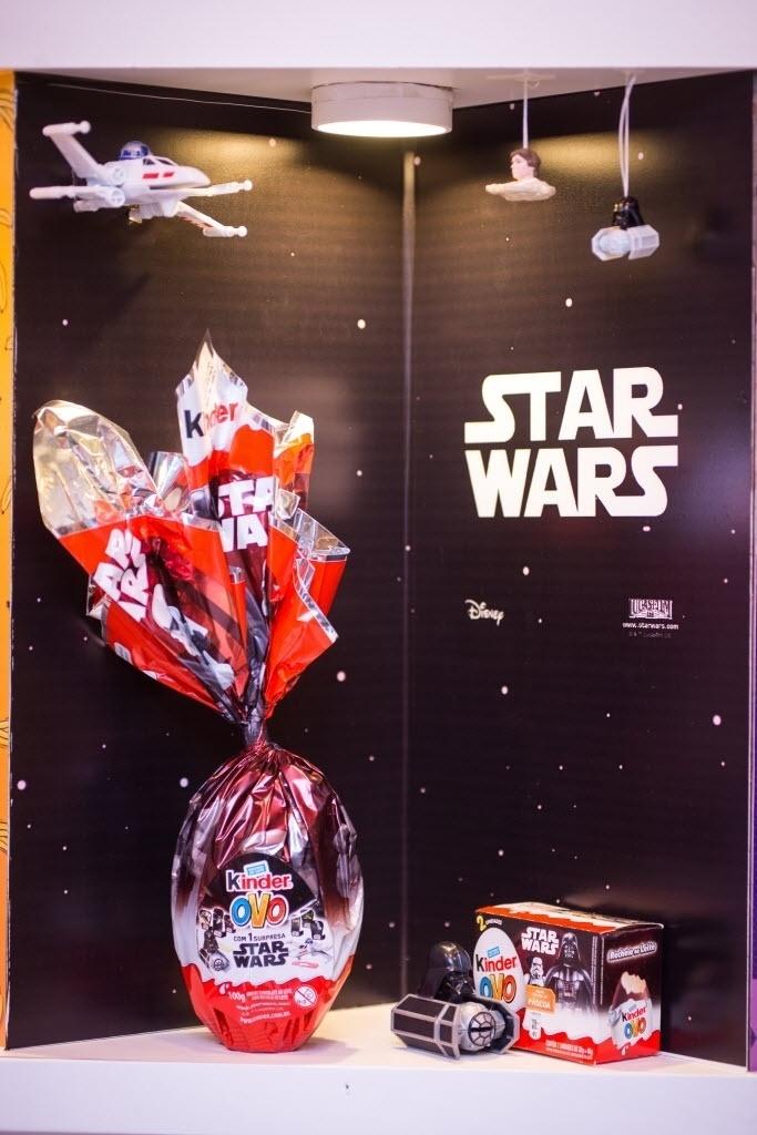 O ovo Star Wars é um dos lançamentos da Kinder para este ano e tem versões de R$ 10,59 (20g) e R$ 44,89 (100g)