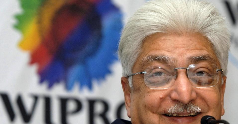 """Azim Premji, chairman da gigante indiana do software Wirpro, recebeu o aplido de """"czar da indústria de TI da Índia"""". Sua fortuna é estimada em US$ 20,1 bilhões."""
