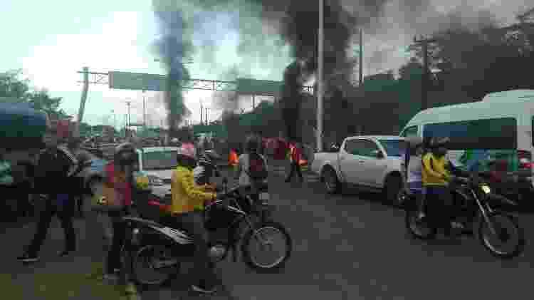 Manifestantes bloqueiam parte da BR-135 na saída para São Luís - PRF