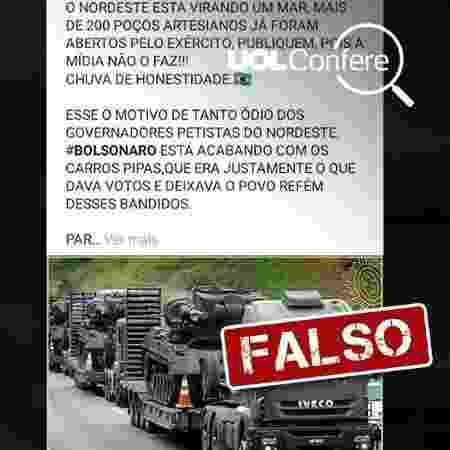 Imagem postada no Facebook sobre suposta obra de Bolsonaro - Reprodução