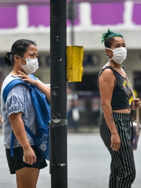 18/03/2020 - População utilizando máscaras de proteção durante pandemia do coronavírus em Belo Horizonte - Gledston Tavares/Frame Photo/Estadão Conteúdo