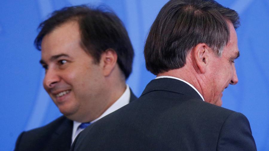 Rodrigo Maia e Bolsonaro - Reuters