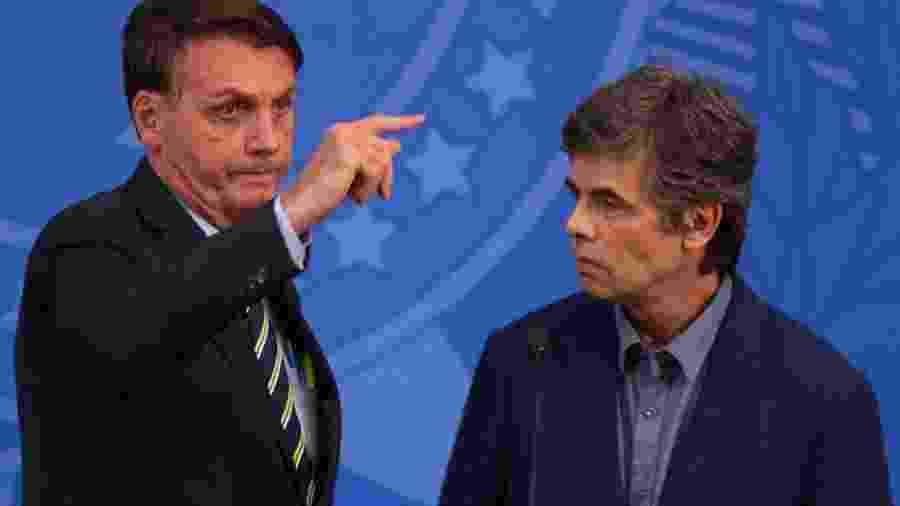Jair Bolsonaro e Nelson Teich - Pedro Ladeira/Folhapress