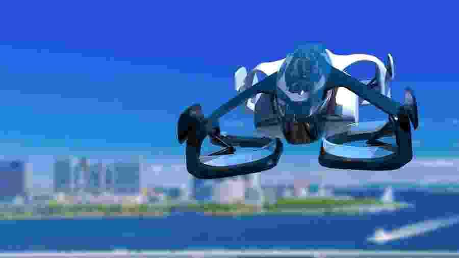 Aeronave do tipo VTOL parece mais um drone tripulado - Divulgação