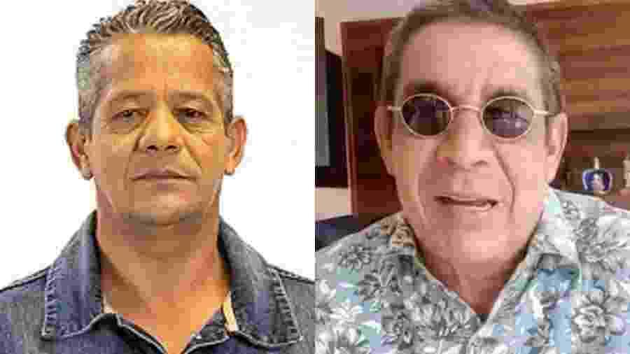 Montagem mostra fotos do candidato Osmar Lima (à esq.) e do cantor Zeca Pagodinho (à dir.) - Reprodução TSE/TV Globo