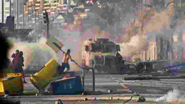 Manifestantes cobravam maior papel no Estado - Getty Images - Getty Images
